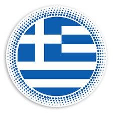 2 x 10cm Greece Flag Vinyl Stickers - Greek Cool Travel Luggage Sticker #30741
