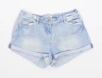 Womens Papaya Blue Denim Shorts Size 10/L1