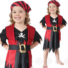PIRATE TODDLER FANCY DRESS GIRLS COSTUME AGE 2-3 OUTFIT BUCCANEER KIDS CHILDS
