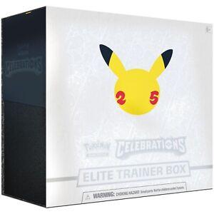 Pokemon TCG 25th Anniversary Celebrations Elite Trainer Box Pre-Order Ships 8 Oc