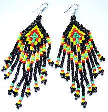 Boucles d'Oreilles Perles Bijoux Ethnique rasta reggae bob marley Jamaique