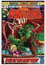 Marvel MAN-THING #9 - Ploog Cover & Art - VG Sept 1974 Vintage Comic