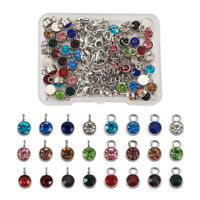 1 Box Jump Rings Lobster Claw Clasps Alloy Stainless Steel Rhinestones Charms