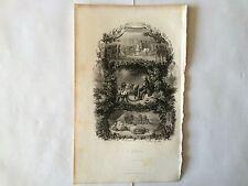 GRAVURE L'ORAGE 1851 DAUBIGNY BERANGER EN TRES BON ETAT