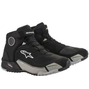 Alpinestars CRX Drystar Motorcycle Riding Shoes - Black/ Cool Grey
