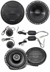 "2) Hifonics ZS65C 6.5"" 2-Way Component Car Speakers + 2) 6.5"" 3-Way Car Speakers"