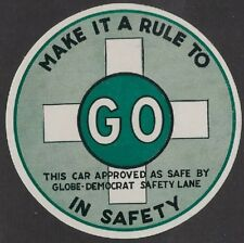 """Great Britain:1950s """"Make It a Rule to Go in Safety"""" Car Approved as Safe- ow280"""