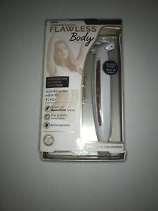 Finishing Touch Flawless Body Rechargeable Ladies Shaver and Trimmer, White/Rose