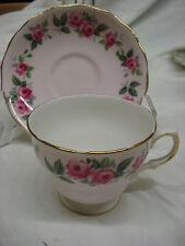 COLCLOUGH Pretty Pink Rose Floral TEA CUP & SAUCER English Bone China TR6