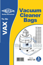 5x VAX Vacuum Cleaner Dust Bags, 2000, 2001 2100, 2300 2301