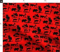 Picasso Matador Bullfighter Spain Fabric Printed by Spoonflower BTY