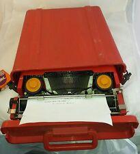 Vintage portable typewriter Orange Olivetti VALENTINE Ettore Sottsass age symbol