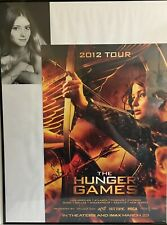 Hunger Games 2012 Tour Jennifer Lawrence Movie Poster Autographed Primrose