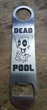 Deadpool stainless steel bottle opener/church key