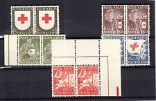 Nederland Rode Kruis 1953 in postfrisse paartjes