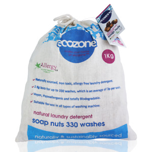 Ecozone Soap nuts - Indian Wash nuts great value 1kg bag