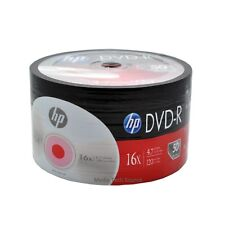 200-Pack 16X HP Logo Blank DVD-R DVDR Recordable Disc Media 4.7GB Shrink Wrapped