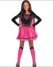 Pink Supergirl Halloween Costume DC Girls Dress Kids Superhero Child Medium 8
