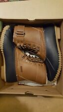 Jambu Ontario Rain Boots, Navy/Tan, Womens 8.5 M