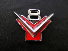 V8 Metal Car Badge Emblem Suit Ford Customline Mainline Custom Fairlane *NEW!*