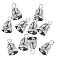 10 Pieces Tiny Mini Bells Craft Decorative Chinese Style Tibetan Silver