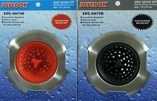 JoyCook Silicone Sink Strainer Color Coded Set - Black & Red