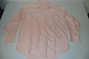 BROOKS BROTHERS ORANGE CORAL DRESS SHIRT MENS SIZE 16 34