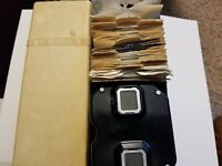 Sawyers Vintage Viewmaster with attachable backlight, case and 21 reels!