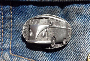 Classic Camper  Hand Made in UK Pewter Lapel Pin Badge