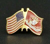 USA American USMC Marine Corps Flags Military Hat Lapel Pin