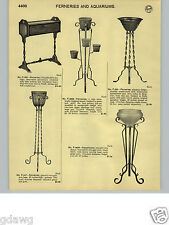 1932 PAPER AD Hammered Wrought Iron Stand Glass Bowl Aquarium Ferneries Fernery