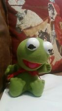 Baby Kermit The Frog 1987 plush stuffed animal muppets Jim Henson collectible