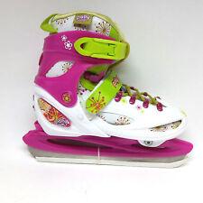 Polly Pocket pink grün Schlittschuh Skate verstellbar 34-37 Kinder Ice Skate