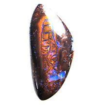 boulder opal 26.5 carats, electric blue veins both sides, 30 x 14 x 7mm