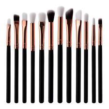 12pcs Flat Eyeshadow Lip Makeup Brushes Kit Eyebrow Brush Cosmetic Tool Set #3YE