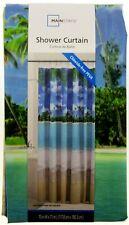 "Tropical Island Beach ~ Shower Curtain ~ 70"" X 72"" ~ Mainstays ~ 100% PEVA"
