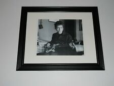 "Framed Bob Dylan with Bass Guitar 1964 with Cigerette, Beautiful! 14"" by 17"""