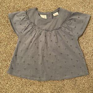 Zara Baby Girl Blue Top T-shirt 9-12 Months