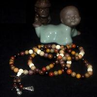8MM Sandalwood Buddhist Buddha Meditation 108 Prayer Bead Mala Bracelet Necklace