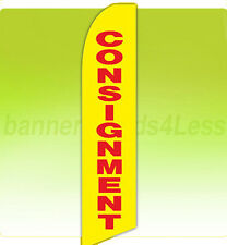 Feather Flutter Swooper Banner Sign Tall 11.5' Flag - CONSIGNMENT yb