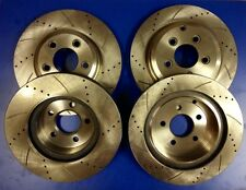 1 Set x Front & Rear Disc Rotors Drilled Slotted Ford Falcon FG 6cyl Turbo / V8