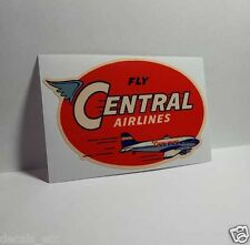 Central Airlines Vintage Style Decal / Vinyl Sticker, Luggage Label