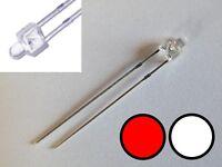 S651 - 10 Stück DUO LEDs 2mm Bi-Color weiß rot klar Lichtwechsel Loks Wendezug