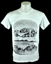 Big Mac Fast Food White T-shirt Punk Rock indy Crew Tee Size S