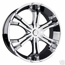 "26"" DAKAR MAYHEM CHROME WHEELS 5 AND 6 LUG"