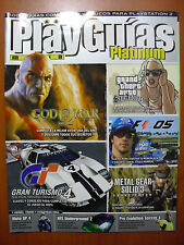 Guías God of War, Metal Gear Solid 3, GTA San Andreas, F-1 05, PS2 PS3 Xbox 360