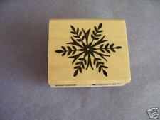 PENNY BLACK RUBBER STAMPS SNOW CRYSTAL CHRISTMAS STAMP