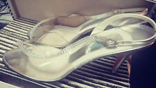 Amano Vintage Bootier Silver with Crystal Studs, Sandal Women's 10 Narrow