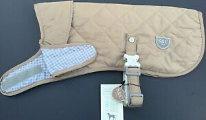 Sydney & Co  Fawn Quilted Dog Jacket Various Sizes BNWT
