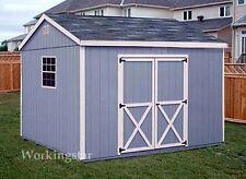 10' x 12' Gable Style Storage Shed Plans / Building Blueprints & Guides # E1012